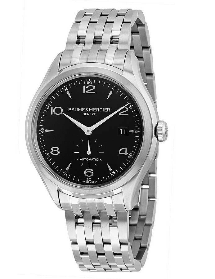 Baume & Mercier Clifton Black Dial Stainless Steel Men's 41mm Watch MOA10100