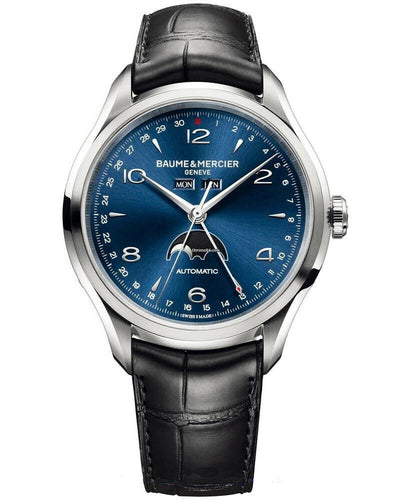 Baume & Mercier Clifton Blue Dial Triple-Date Moonphase Men's Watch MOA10057