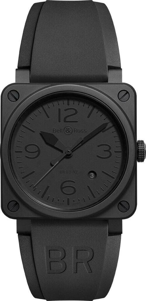 Bell& Ross Phantom Ceramic Automatic Black Dial Men's Watch BR0392-PHANTOM-CE