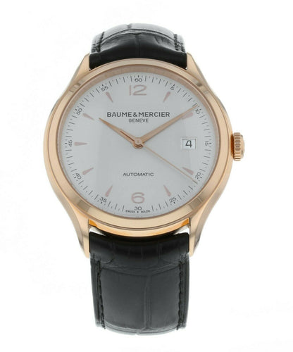 Baume & Mercier Clifton 18k Rose Gold Automatic Men's 39mm Watch MOA10058
