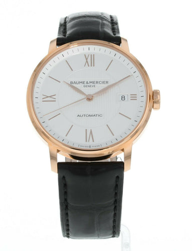Baume & Mercier Classima Executives 18k Rose Gold 39mm Men's Watch MOA10037