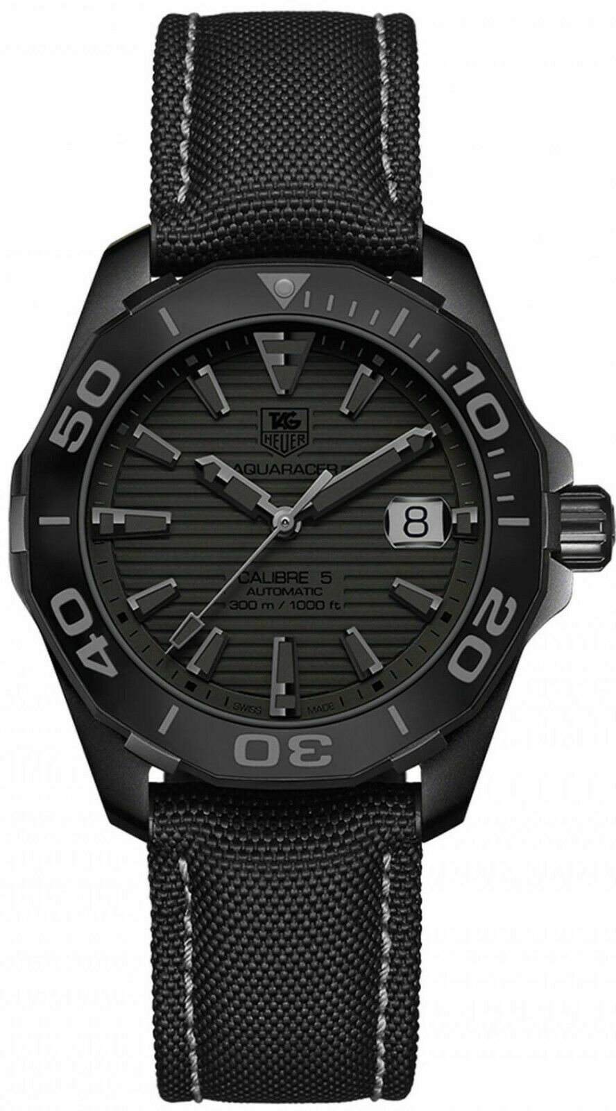 Tag Heuer Aquaracer Automatic Black Dial Men's 41mm Watch WAY218B.FC6364