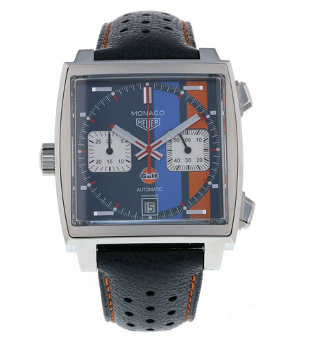 Tag Heuer Monaco Gulf 50TH Anniversary Steve Mcqueen Men's Watch CAW211R.FC6401