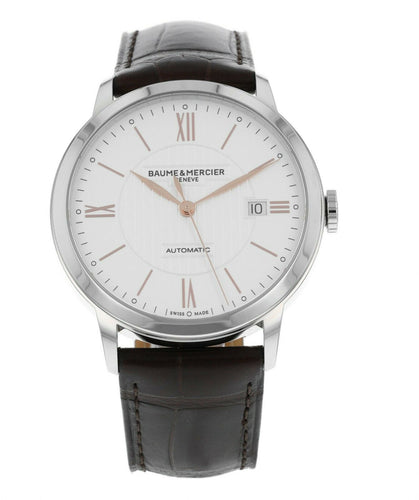Baume & Mercier Classima 40mm Automatic Men's Leather Strap Watch MOA10263