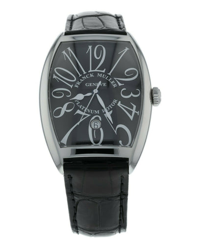 Franck Muller Cintree Curvex Automatic Men's Leather Strap Watch 6850 B SC DT VA