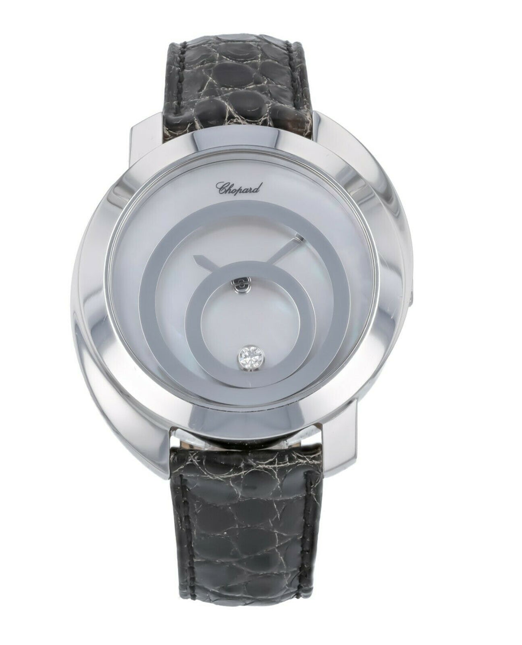 Chopard Happy Spirit 18k White Gold Quartz Ladies 40mm Watch 207153-1001