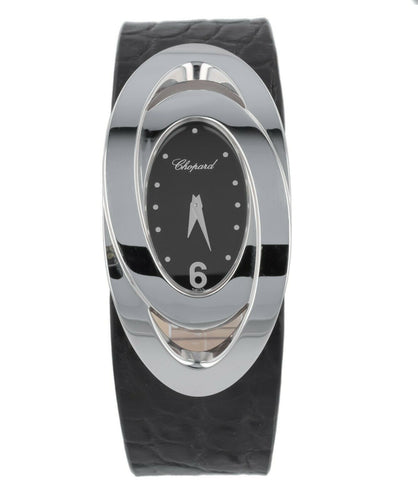 Chopard Double Oval 18k White Gold Quartz Ladies Watch 127457-1001