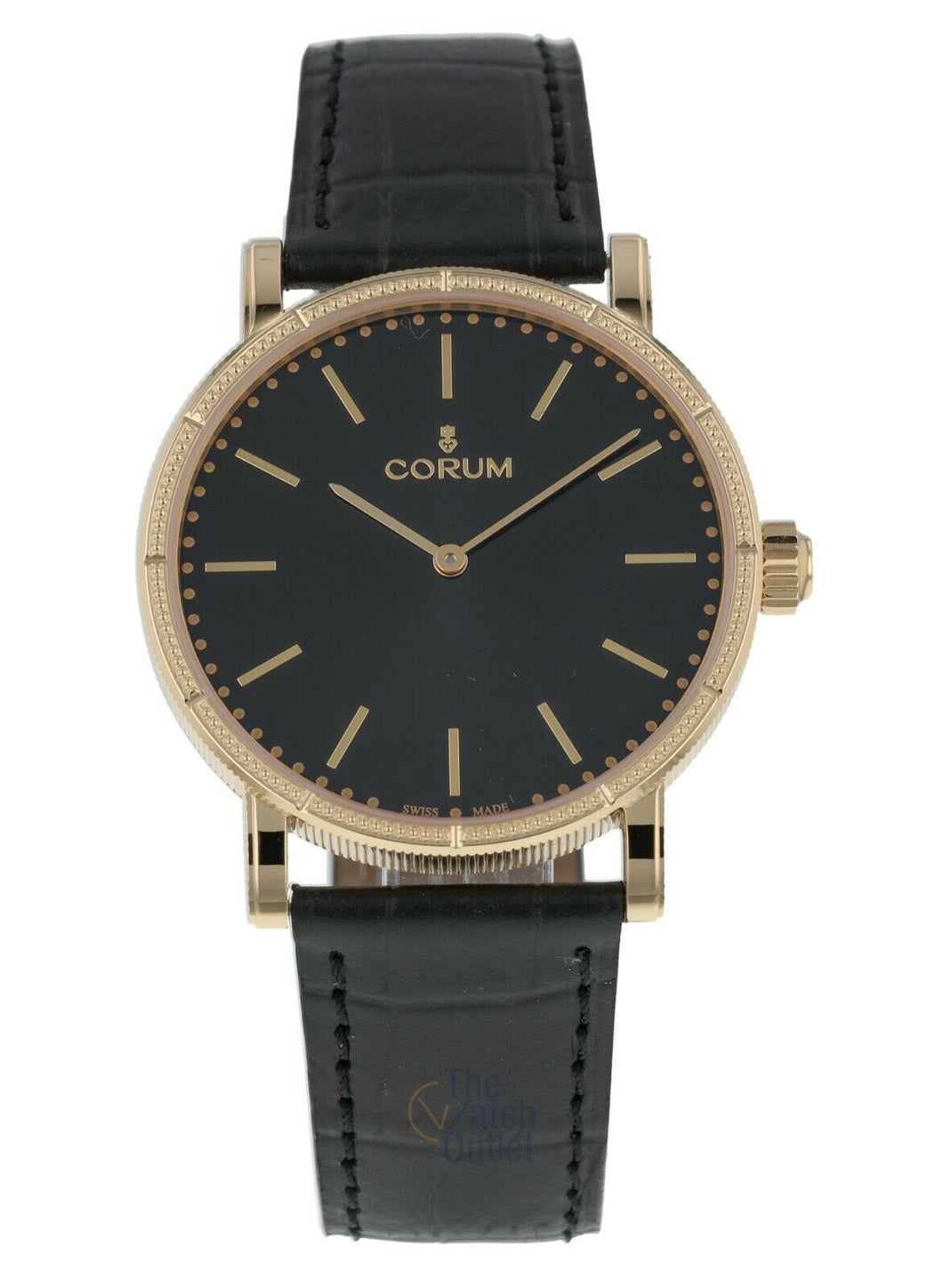 Corum Heritage 36 Automatic 18k Yellow Gold Leather Strap Watch Z293/03541