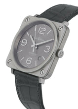 Bell & Ross Officer Ruthenium Dial Men's 39mm Automatic Watch BRS92-RU-ST/SCR