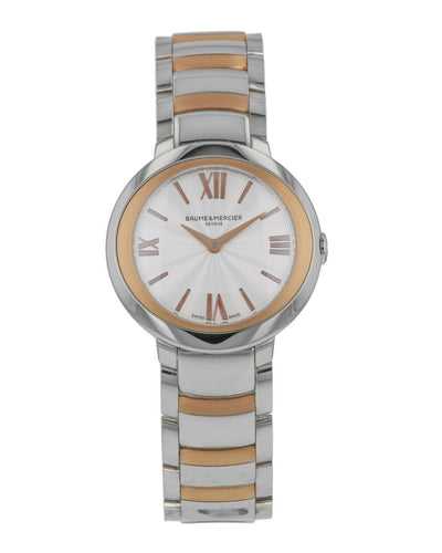 Baume & Mercier Promesse 18k Rose Gold & Steel Ladies Quartz Watch MOA10159
