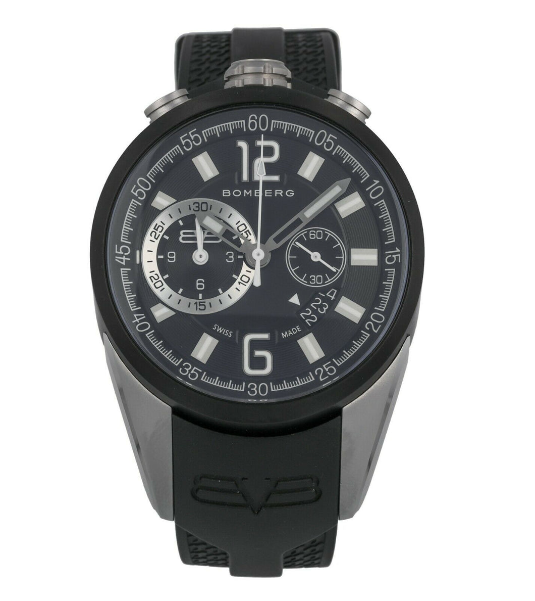 Bomberg 1968 Quartz Men's 44mm Chronograph Watch NS304