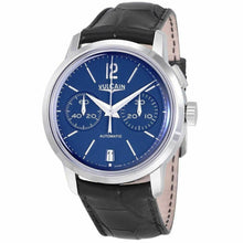 Vulcain 50s Presidents Blue Dial Men's Mono-Pusher Chronograph Watch 570157.311L