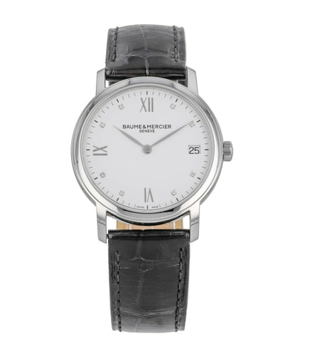Baume & Mercier Classima White Diamond Dial Ladies 33mm Quartz Watch MOA10146