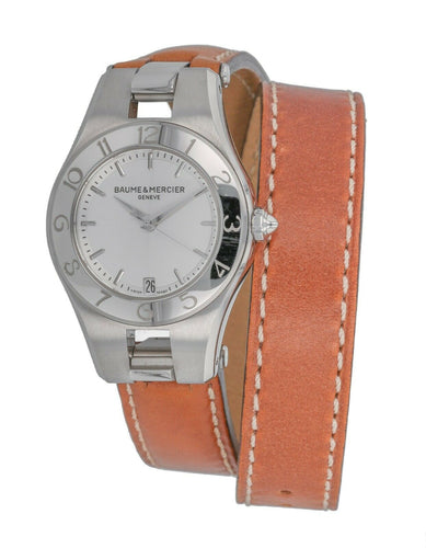 Baume & Mercier Linea Ladies Quartz Leather Strap Watch MOA10036