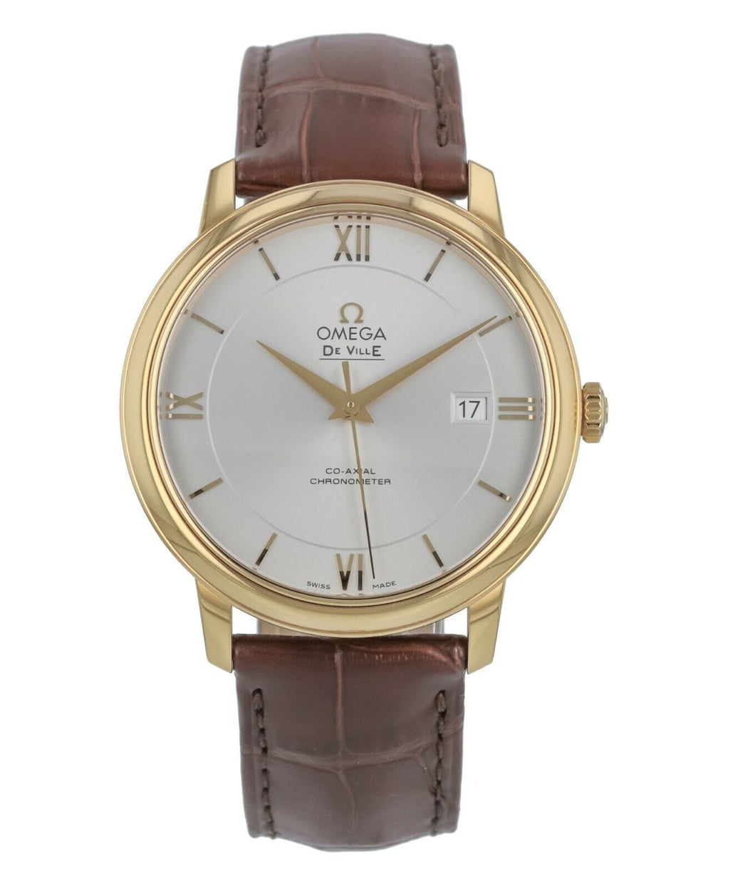Omega De Ville Prestige Automatic 18k Yellow Gold 39.5mm Men's Watch