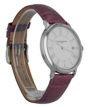 Baume & Mercier Classima 36.5mm White Dial Purple Leather Ladies Watch MOA10224