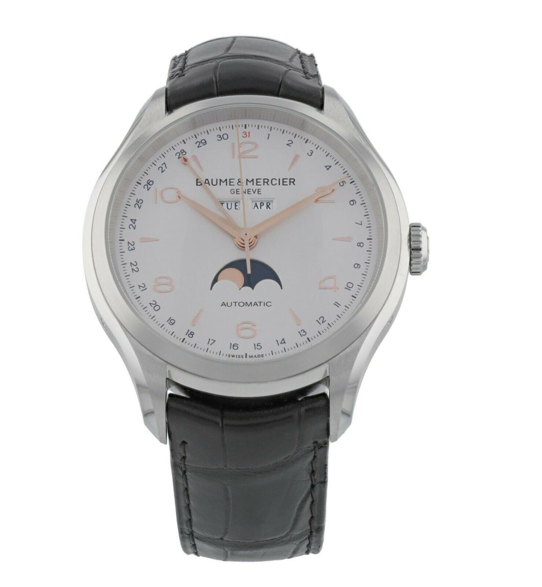 Baume & Mercier Clifton Triple-Date Moonphase Mens 43mm Automatic Watch MOA10055