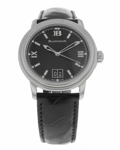 Blancpain Leman Ultra Slim Automatic Big Date 38mm Men's Watch 2150-1130