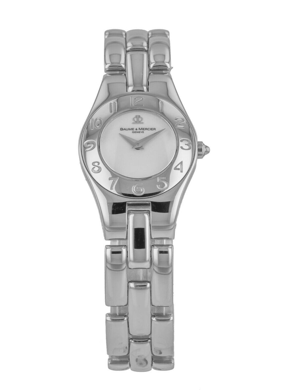 Baume & Mercier Linea Silver Dial Stainless Steel 24mm Ladies Watch M0A08632