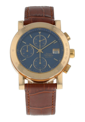 Girard Perregaux Chronograph 18k Rose Gold 38mm Automatic Men's Watch 7000GBM