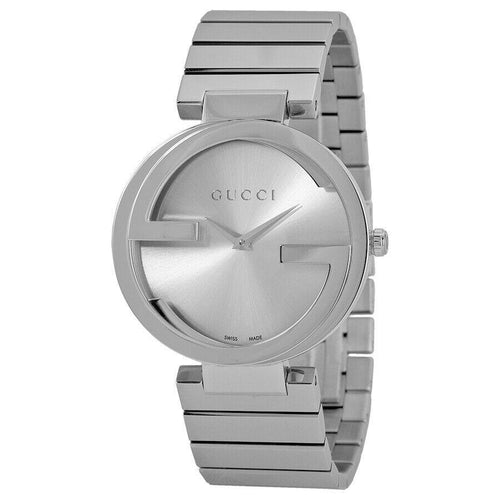 Gucci Interlocking 37mm Stainless Steel Ladies Quartz Watch YA133308