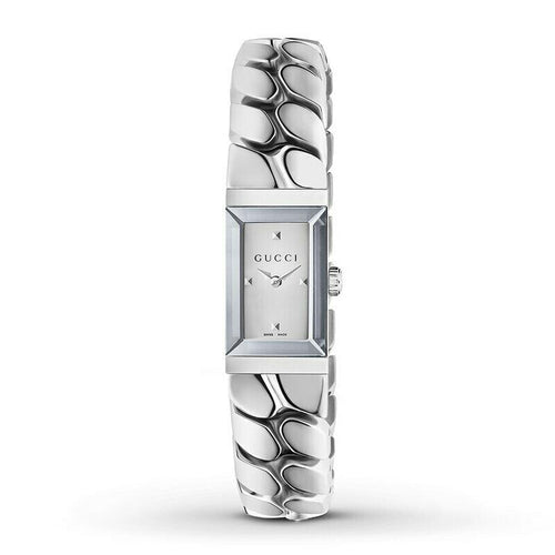 Gucci G-Frame Silver Dial Quartz Stainless Steel Ladies Watch YA147501