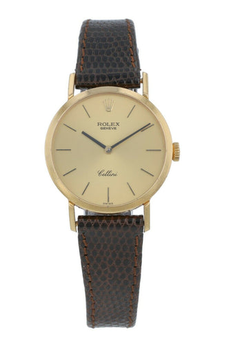 Rolex Cellini 26mm Hand-Winding 18K Yellow Gold Ladies Watch 4109