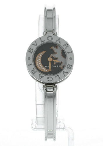 Bulgari B.zero1 Black Diamond Dial Quartz Stainless Steel Ladies Watch 101741