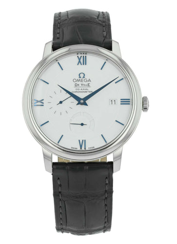 Omega De Ville Prestige 18k White Gold Men's 39.5mm Watch 424.53.40.21.04.001