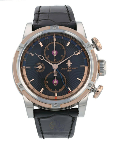 Louis Moinet Geograph 18K Gold and Steel 45mm Automatic Men's Watch LM-24.30.55