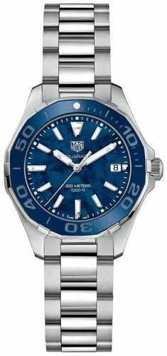 Tag Heuer Aquaracer Blue MOP Dial Ladies 35mm Quartz Watch WAY131S.BA0748