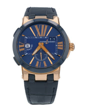 Ulysse Nardin Executive Dual Time 18k Rose Gold Automatic Mens Watch 246-00-5-43