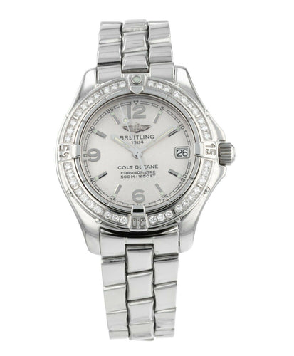Breitling Colt Lady Diamond Stainless Steel 33mm Ladies Quartz Watch A77350