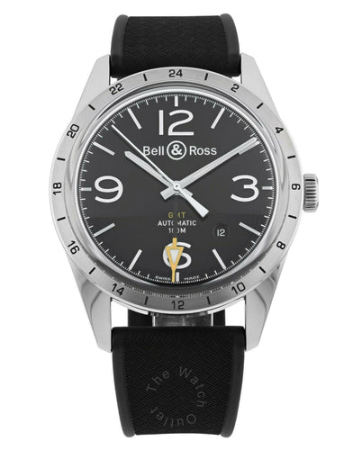 Bell & Ross Vintage GMT Dial Automatic Men's 42mm Watch BRV123-BL-GMT/SRB