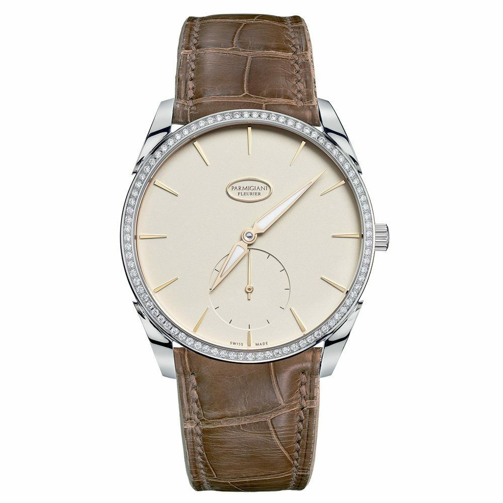 Parmigiani Tonda 1950 Automatic 18k White Gold Diamond 39mm Watch PFC267-1262400