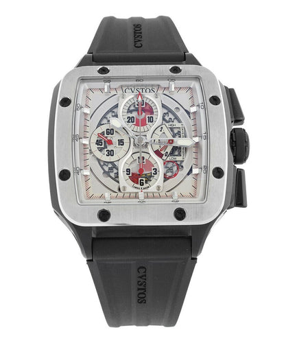 Cvstos Evosquare 50 Chronograph Men's Automatic Skeleton Dial Watch EVO-50 CH BL
