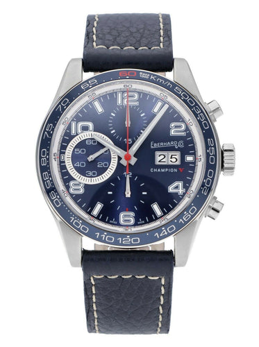 Eberhard & Co. Champion V Grande-Date Auto 42.8mm Chronograph Men's Watch 31064