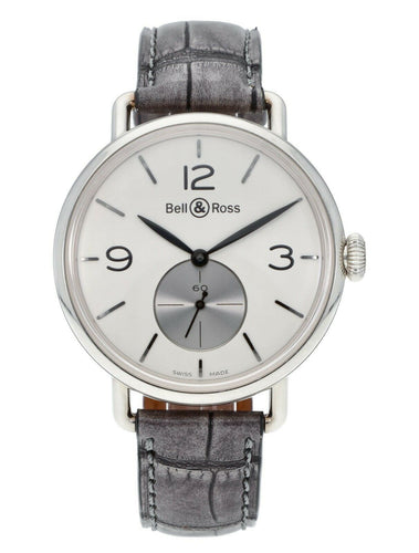 Bell & Ross WW1 Hand-Winding 41mm Argentium Men's Watch BRWW1-ME-AG-OP/SCR