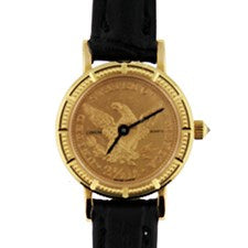 CORUM 2.5 COIN WATCH YELLOW GOLD