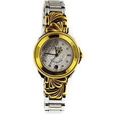 CORUM LADY HORLOGERE STEEL AND YELLOW GOLD
