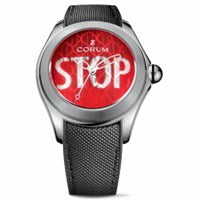 CORUM BUBBLE STOP STAINLESS STEEL