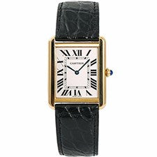 CARTIER TANK SOLO STEEL AND YELLOW GOLD