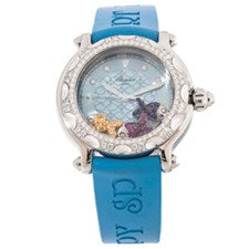 CHOPARD HAPPY SPORT FISH STEEL AND WHITE GOLD