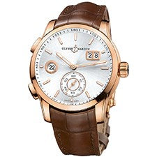 ULYSSE NARDIN DUAL TIME MANUFACTURE ROSE GOLD