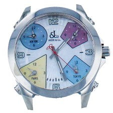 JACOB & CO. FIVE TIME ZONE STAINLESS STEEL