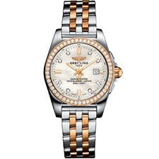 BREITLING GALACTIC LADIES STEEL AND ROSE GOLD