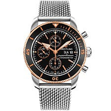 BREITLING SUPEROCEAN HERITAGE II STEEL AND ROSE GOLD