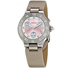 CARTIER MUST 21 CHRONOSCAPH LADY STAINLESS STEEL
