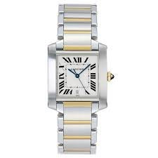 CARTIER TANK FRANCAISE STEEL AND YELLOW GOLD