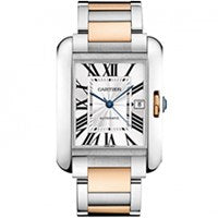 CARTIER TANK ANGLAISE XL STEEL AND ROSE GOLD